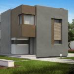 Casa moderna cu etaj si 3 dormitoare varianta design