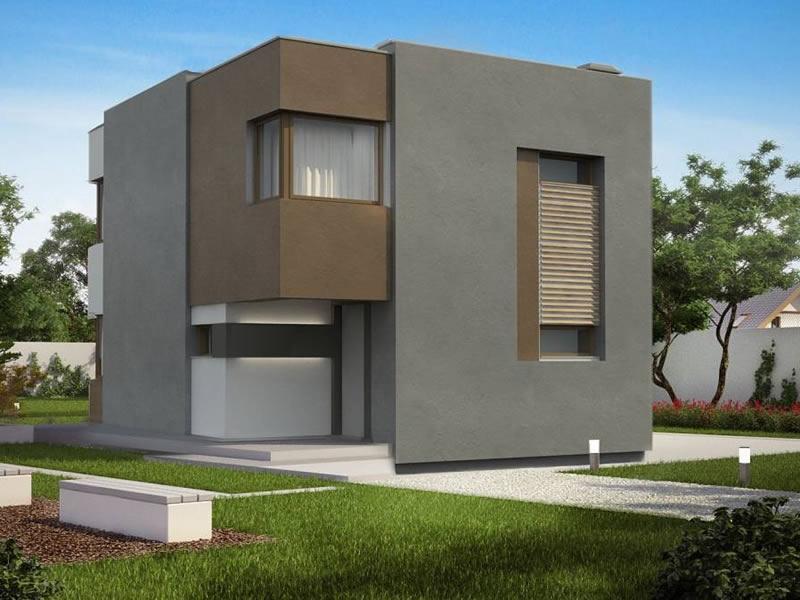Casa moderna cu etaj si 3 dormitoare varianta design for Casa moderna romania