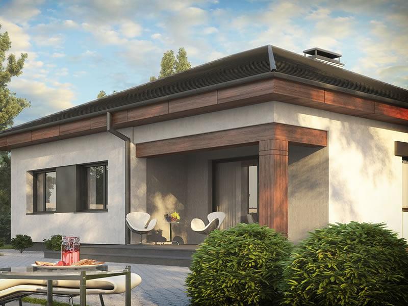 Casa parter cu 3 dormitoare terasa spate