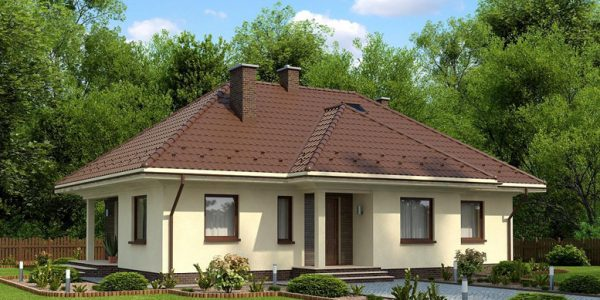 Model casa cu parter si 4 dormitoare