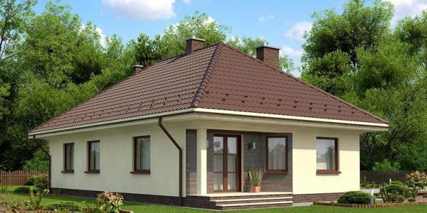 Casa parter cu 4 dormitoare vedere spate