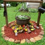 Decoratiune rustica flori gradina