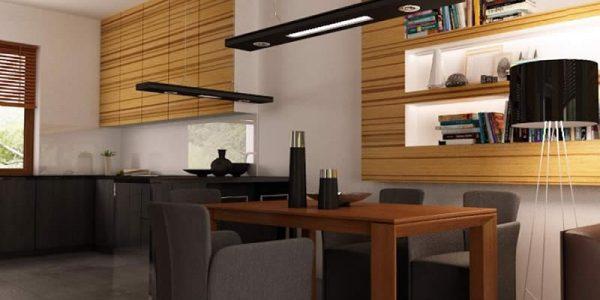Dining cu design interior din lemn