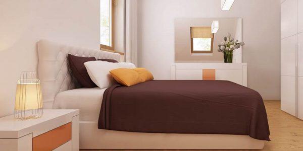 Dormitor casa cu trei dormitoare si mansarda
