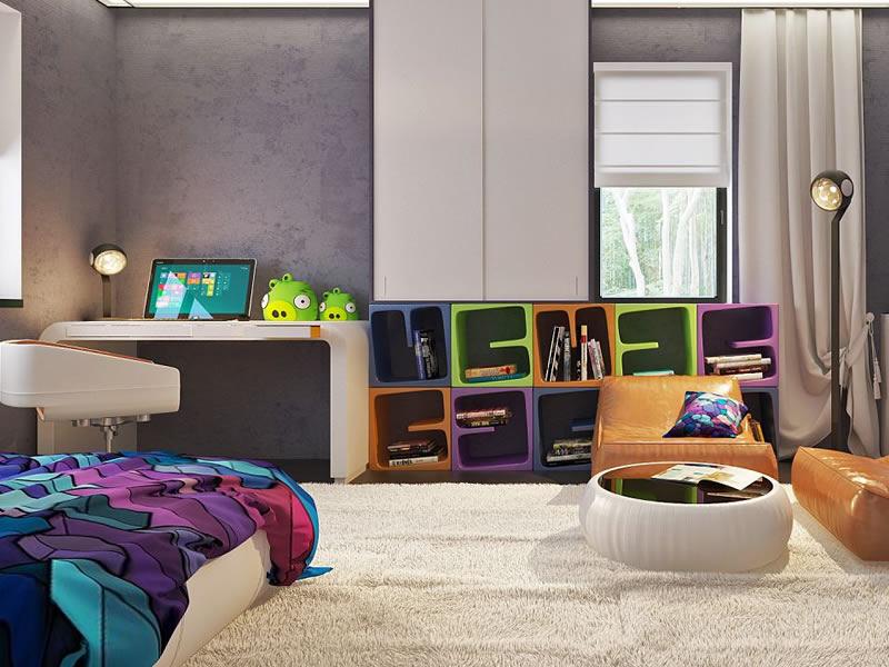 Dormitor casa parter cu 3 dormitoare