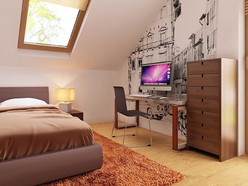 Dormitor copii casa cu trei dormitoare si mansarda