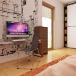 Dormitor copil casa cu trei dormitoare si mansarda