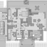 Plan casa cu parter cu 3 dormitoare