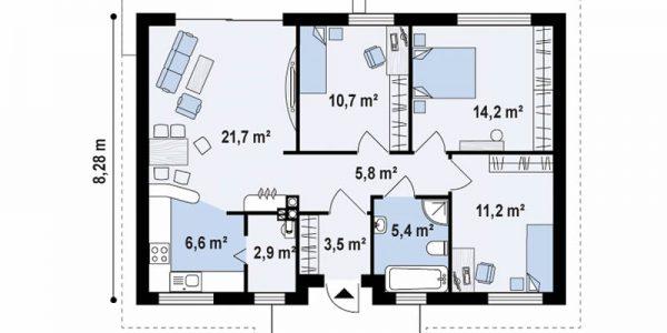 lan cu parter si trei dormitoare