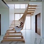 Scara interioara lemn design superb