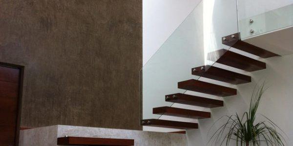 Scara interioara lemn minimalista