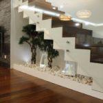 Scara interioara lemn si sticla