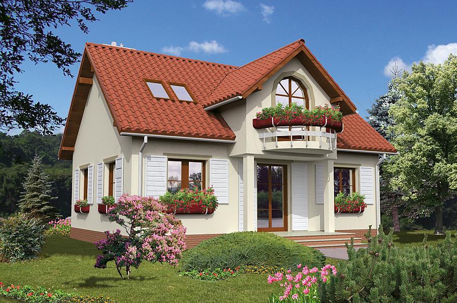 Proiect casa cu 3 dormitoare si mansarda