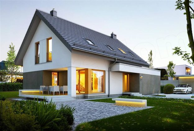 Proiect casa moderna cu 4 dormitoare si terasa