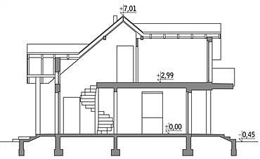 Sectioune verticala casa cote inaltime