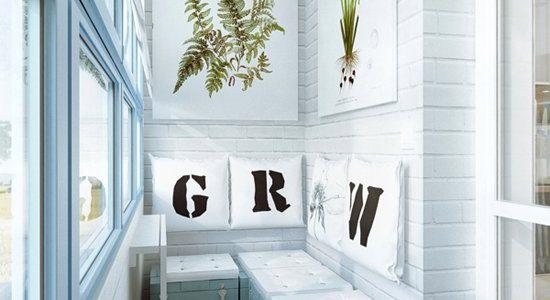Balcon alb cu decoratiuni
