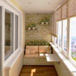 Balcon amenajat modern