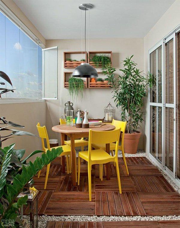 Balcon trasnformat in dining