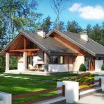 Casa cu 2 dormitoare si terasa acoperita