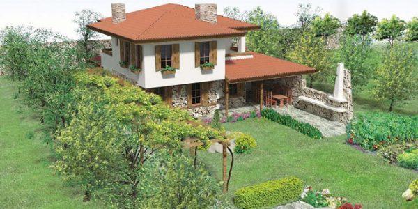 Casa cu arhitectura rurala