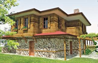 Casa cu arhitectura rurala vedere spate