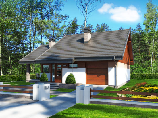 Casa mica cu 2 dormitoare si garaj
