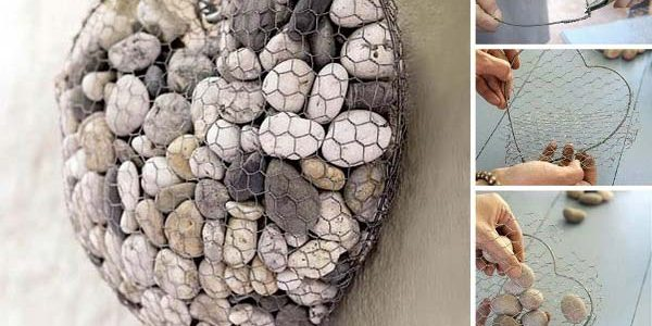 Decoratiune inima din piatra