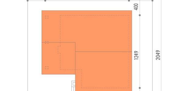 Dimensiuni parcela teren casa mica cu 2 dormitoare si garaj