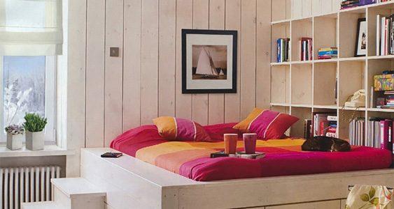 Dormitor cu platforma inaltata