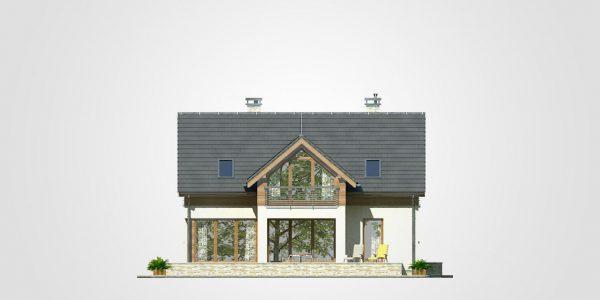 Elevatie gradina casa cu 5 camere