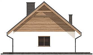 Elevatie laterala casa mica cu un dormitor si living