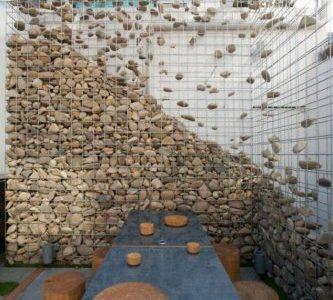 Gabion piatra decorativ