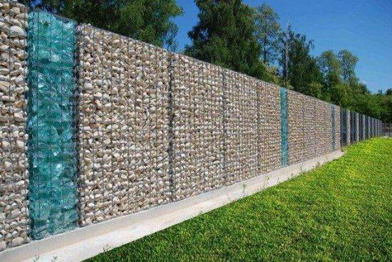 Gard gabion piatra in 2 culori