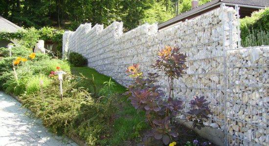 Gard gabion piatra in trepte