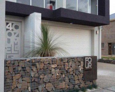 Gard modern gabion piatra