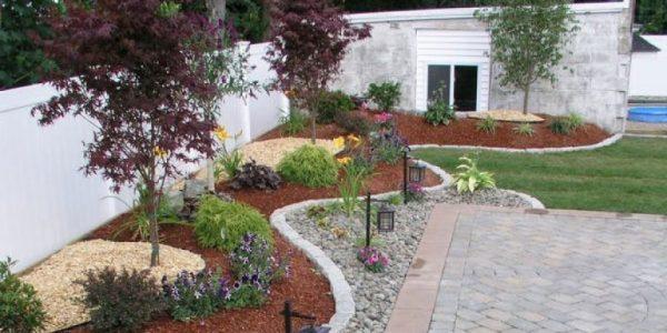 Gradina din fata casei cu plante decorative
