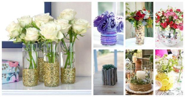 Idei decorare vaze si vase simple din sticla