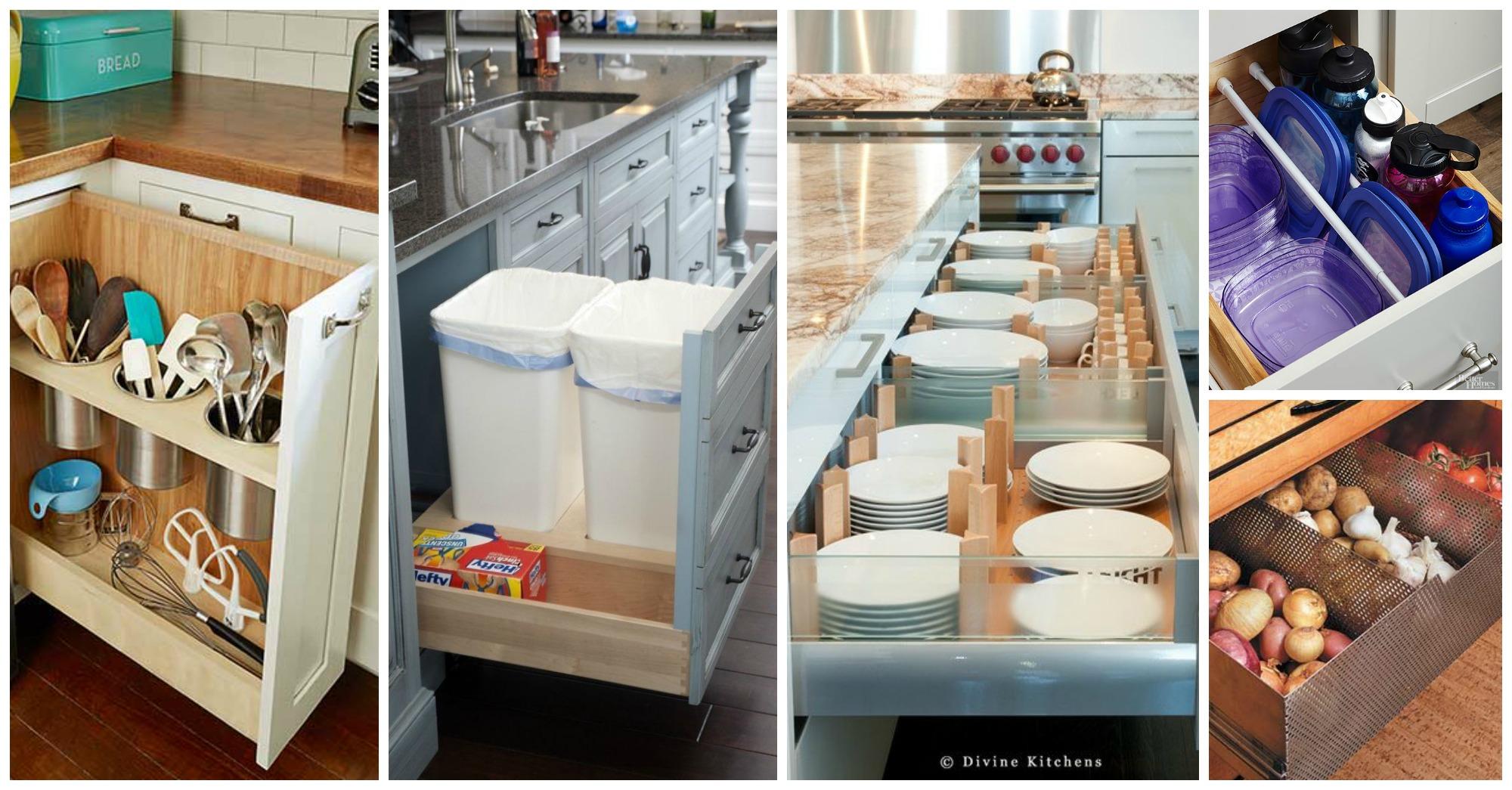 Idei organizare pentru spatiul din bucatariile mici