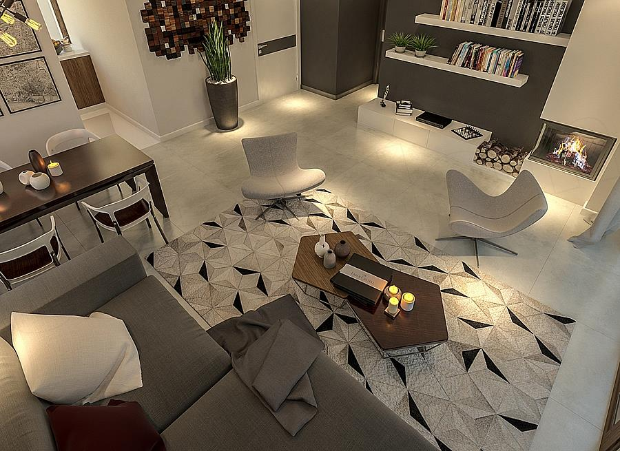 Living cu mobilier modern