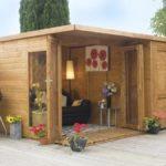 Pavilion de gradina din lemn