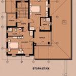 Plan etaj casa cu arhitectura rurala