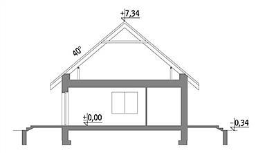 Plan vertical casa mica cu un dormitor si living