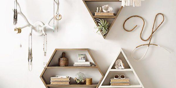 Rafturi living cu forme geometrice