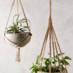 Sistem de agatare din granghie pentru vas de flori