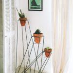 Suport flori cu forrma geometrica
