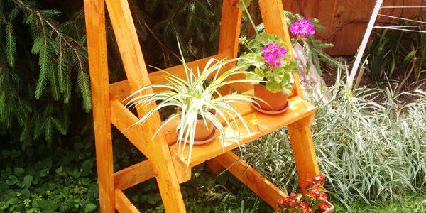 Suport flori din scara
