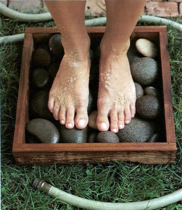 Cutie din lemn spalare picioare