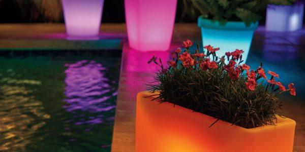 Supoturi flori iluminate multicolor