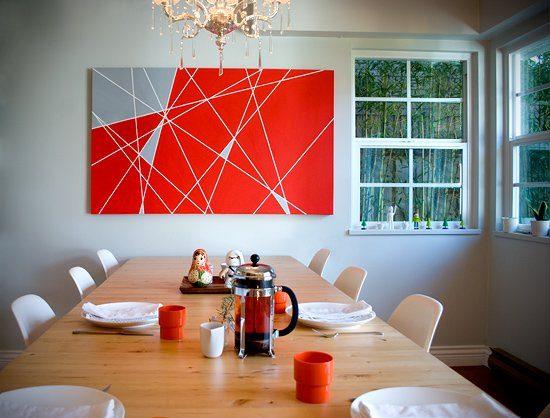 Tablou colorat cu forme geometrice