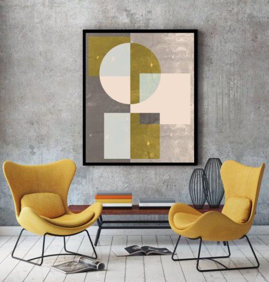 Tablou cu forme geometrice